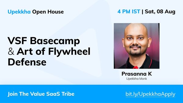 Upekkha Open House: The Art of Flywheel Defence, an AMA with Prasanna Krishnamoorthy